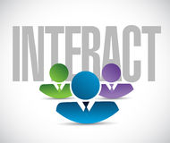 Interact team sign illustration design graphic Royalty Free Stock Photo