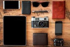 Interactie van retro en modern Stock Fotografie