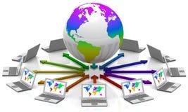 Interactie wereldwijd Royalty-vrije Stock Afbeelding