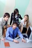 Interacting business Stock Photo
