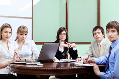 Interacting business Royalty Free Stock Images