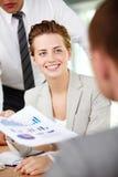 Interacting female Stock Photos