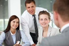 Interacting female Stock Photo