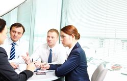 Interacting partners Royalty Free Stock Photography