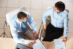 Interacting partners Stock Image