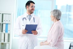 Interacting with patient stock images