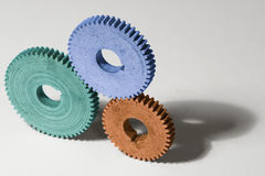 Interaction. Successful interaction of different cogs Stock Photo
