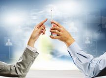 Interaction concept Royalty Free Stock Image