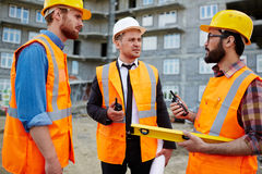 Interaction of contractors Stock Images