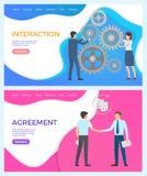 Interaction dans l'équipe, mise en réseau sociale, directeurs illustration stock