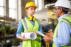 Interaction of engineers Royalty Free Stock Photography