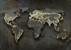 Interaction globale Photographie stock libre de droits