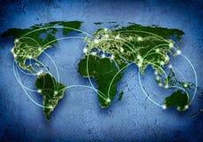 Interaction globale Photo libre de droits