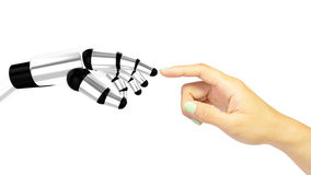 Interaction humaine de machine Image libre de droits