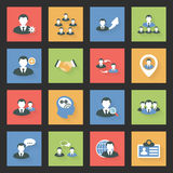 Interaction icons set Royalty Free Stock Photo