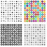 100 interaction icons set vector variant. 100 interaction icons set vector in 4 variant for any web design isolated on white stock illustration