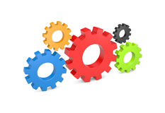 Interaction metaphor. Image contain clipping path Royalty Free Stock Image
