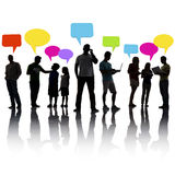 Interaction People Social Networking Technology Concept Stock Photos