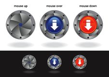 Interactive Buttons Royalty Free Stock Photography