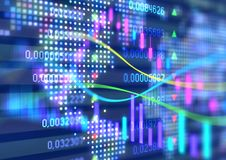 Interactive financial quotes and technical analysis Royalty Free Stock Photos