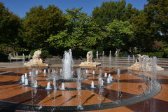 Interactive fountain at Coolidge Park in Chattanooga, Tennessee Royalty Free Stock Photo