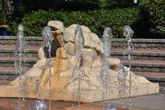 Interactive fountain at Coolidge Park in Chattanooga, Tennessee Stock Image