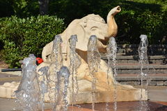 Interactive fountain at Coolidge Park in Chattanooga, Tennessee Royalty Free Stock Photography