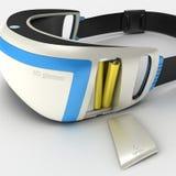 Interactive glasses virtual reality 3D illustration. Interactive glasses virtual reality. Design exclusive. VR.3D illustration royalty free illustration