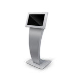 Interactive Information Kiosk Terminal Stand Stock Image