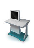 Interactive Information Kiosk Terminal Stand Royalty Free Stock Photography