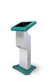 Interactive Information Kiosk Terminal Stand Royalty Free Stock Photo