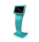 Interactive Information Kiosk Terminal Stand Stock Images