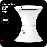Interactive laser toy for cats with green button and indicators. Vector Royalty Free Stock Photos