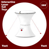 Interactive laser toy for cats with red button. Vector Stock Photos