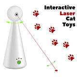Interactive laser toy for cats on a white background. Vector illustration Royalty Free Stock Image