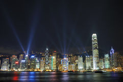 Interactive lights show in Hong Kong Royalty Free Stock Photography