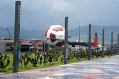 Interactive museum of Football in Pachuca Mx. This  interactive museum of Football in Pachuca Mx. it is situated next to the Plaza Central made of tiles Royalty Free Stock Images