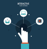 Interactive technology design Royalty Free Stock Photo