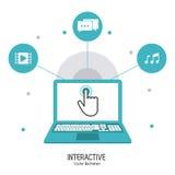 Interactive technology design Stock Photo