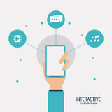 Interactive technology design Stock Photo