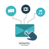 Interactive technology design Royalty Free Stock Image