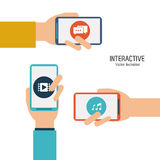 Interactive technology design Stock Photography