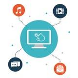 Interactive technology design Stock Photos