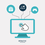 Interactive technology design Royalty Free Stock Images