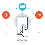 Interactive technology design Stock Image