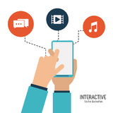 Interactive technology design Stock Images
