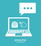 Interactive technology design Royalty Free Stock Photography