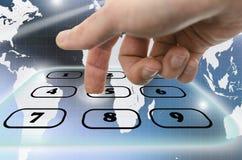 Interactive telephone keypad Stock Photo