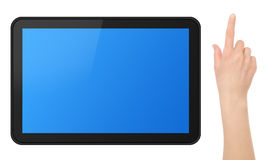 Interactive Touch Screen Tablet with Hand Stock Photos