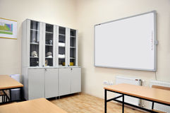Interactive whiteboard. Empty school classrooms with interactive whiteboard Stock Images
